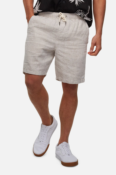 The Marina Linen Short - Wheat