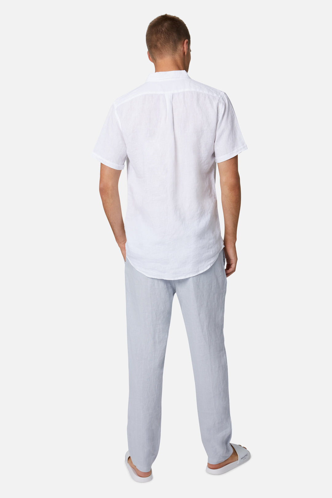The Tennyson Linen S/S Shirt - White