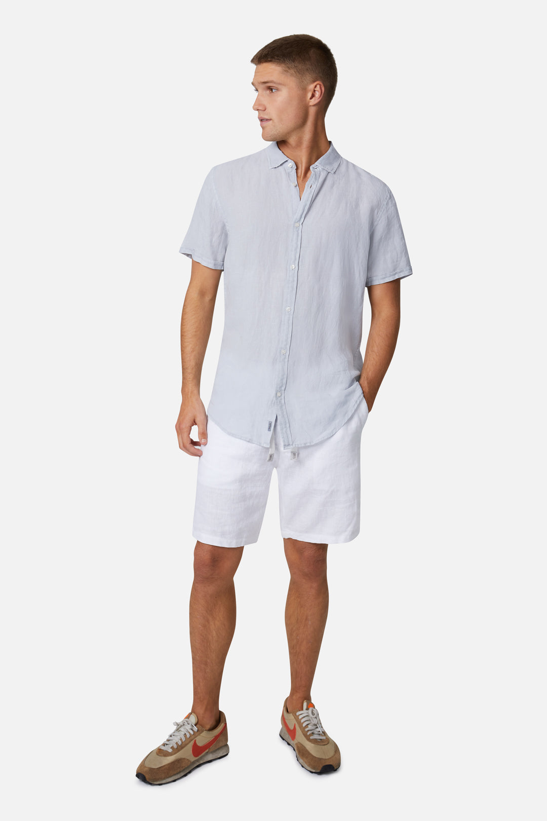 The Tennyson Linen S/S Shirt - Posh Grey