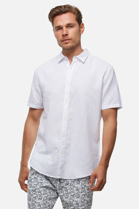 The Slim Rickard S/S Shirt - White