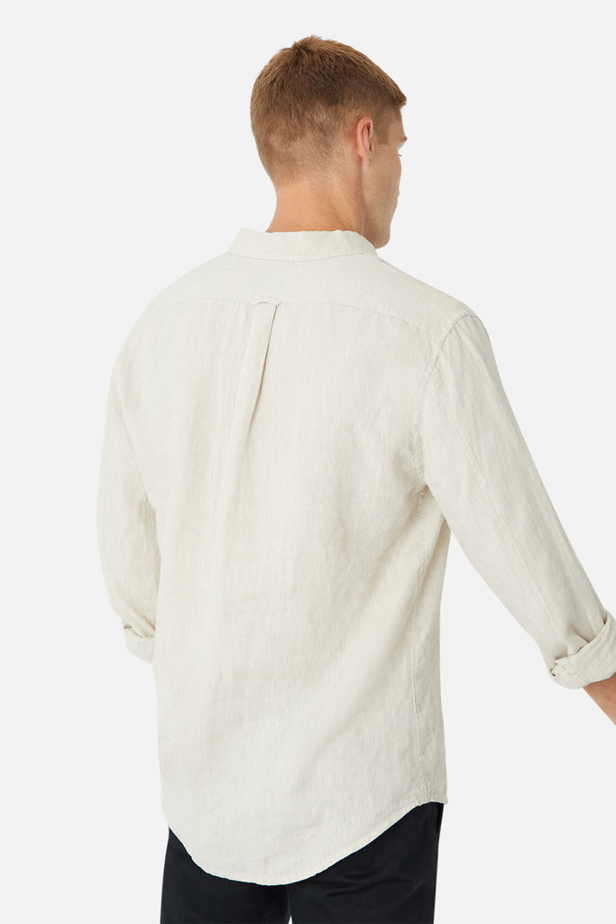 The Tennyson Linen L/S Shirt - Oatmeal