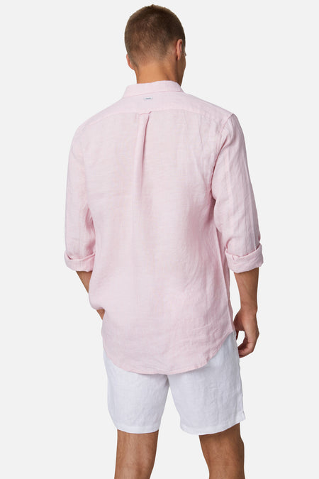 The Tennyson Linen L/S Shirt - YD Rose