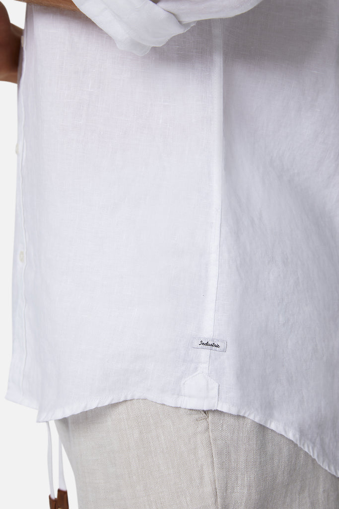 The Tennyson Linen L/S Shirt - White