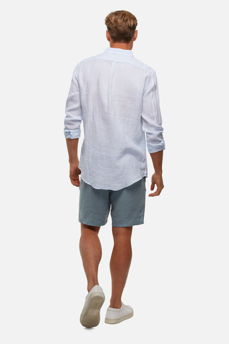 The Tennyson Linen L/S Shirt - Sky