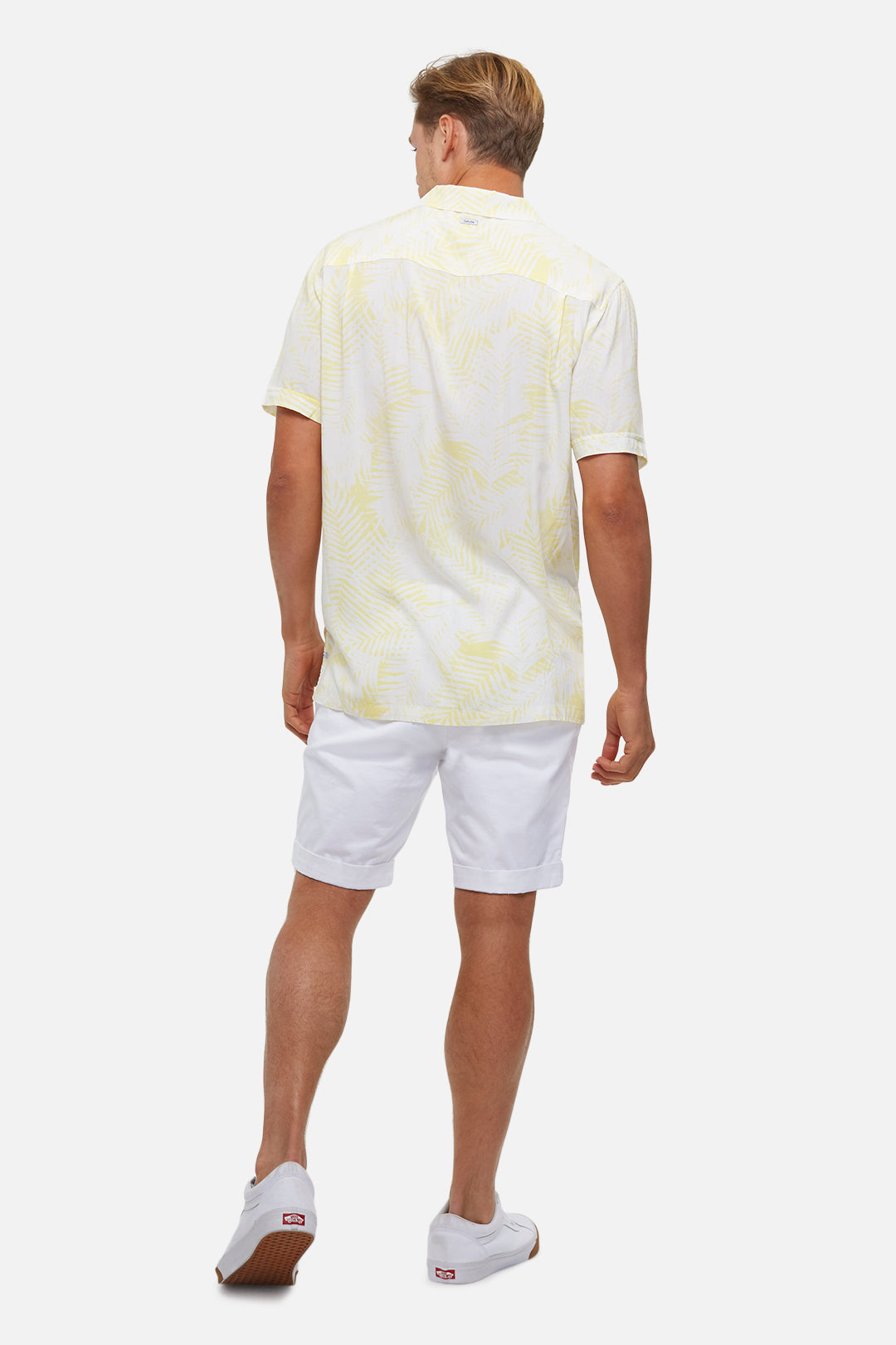 The Tyler S/S Shirt - Off White Yellow