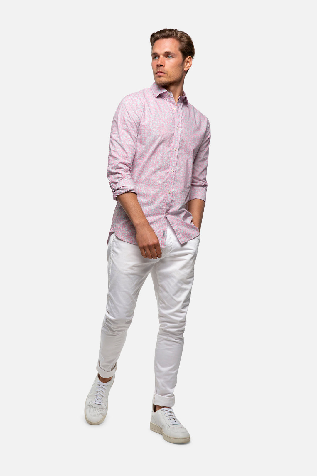 The Acres L/S Shirt - Pink Combo