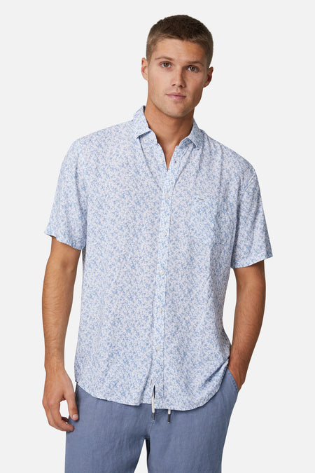 The Mandalay Ss Shirt - White Light Blue