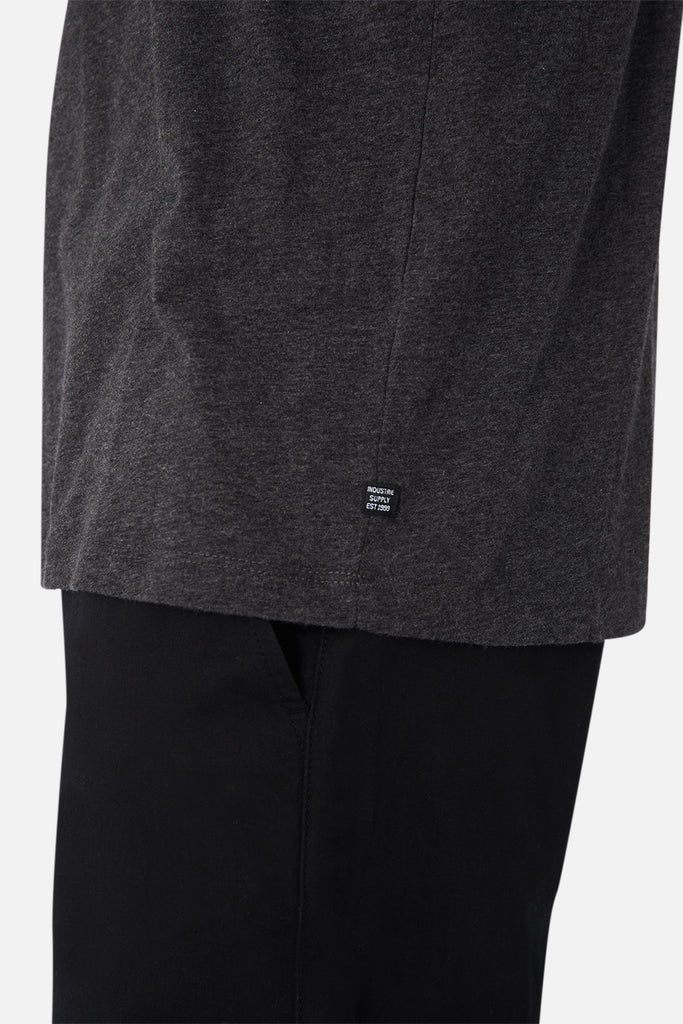 The New Basic Crew Tee - Charcoal Marle