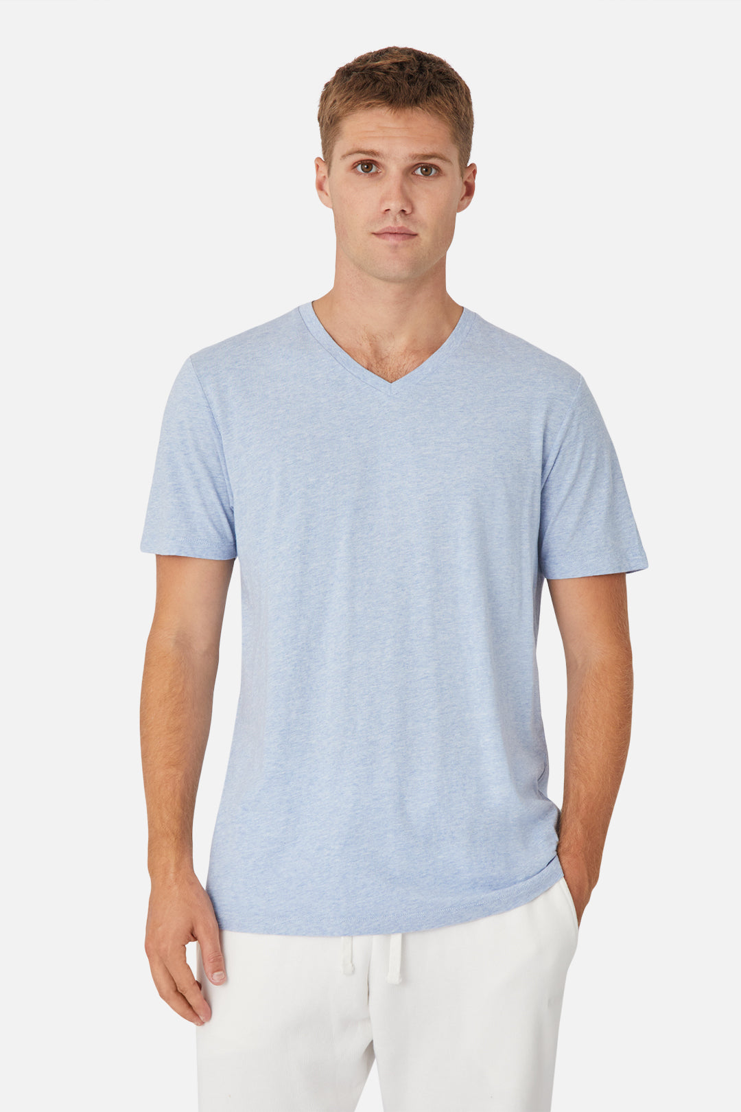 The New Basic Vee Tee - Blue Marle