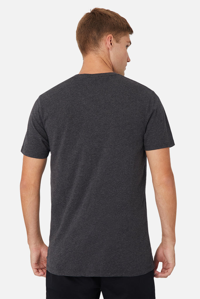 The New Basic Vee Tee - Charcoal Marle