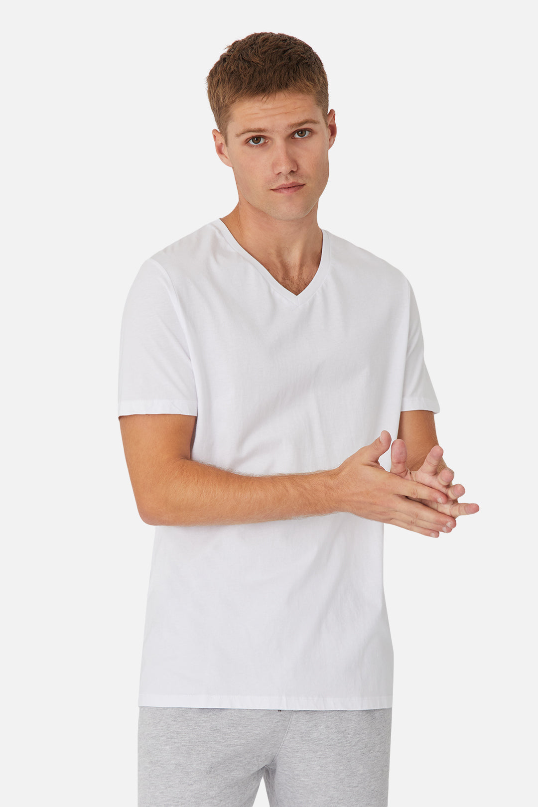 The New Basic Vee Tee - White
