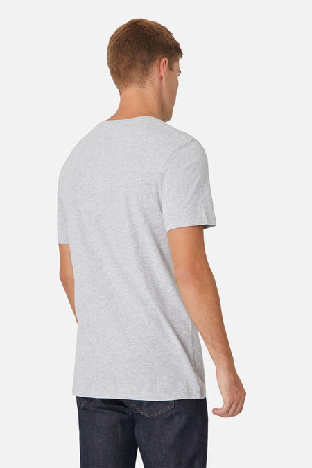 The New Basic Vee Tee - Light Grey Marle