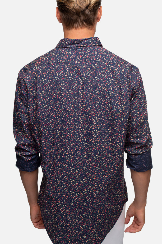 The Pembroke L/S Shirt - Navy Multi