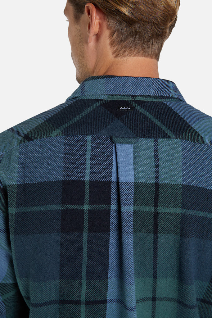 The Leroy L/S Shirt - Blue Green