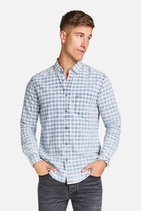 The Taunton Shirt - Light Blue Denim