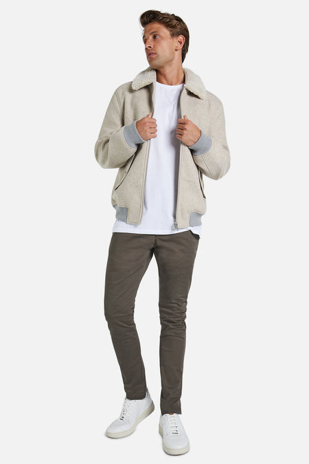 The Cochran Flight Jacket - Oatmeal Me