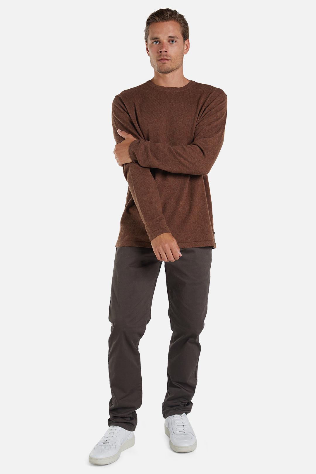 The Cashmere Blend Knit - Ginger