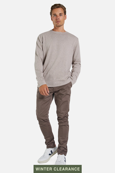 The Cashmere Blend Knit - Flax