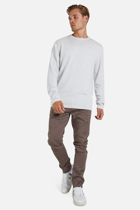 The Cashmere Blend Knit - Ice Melange