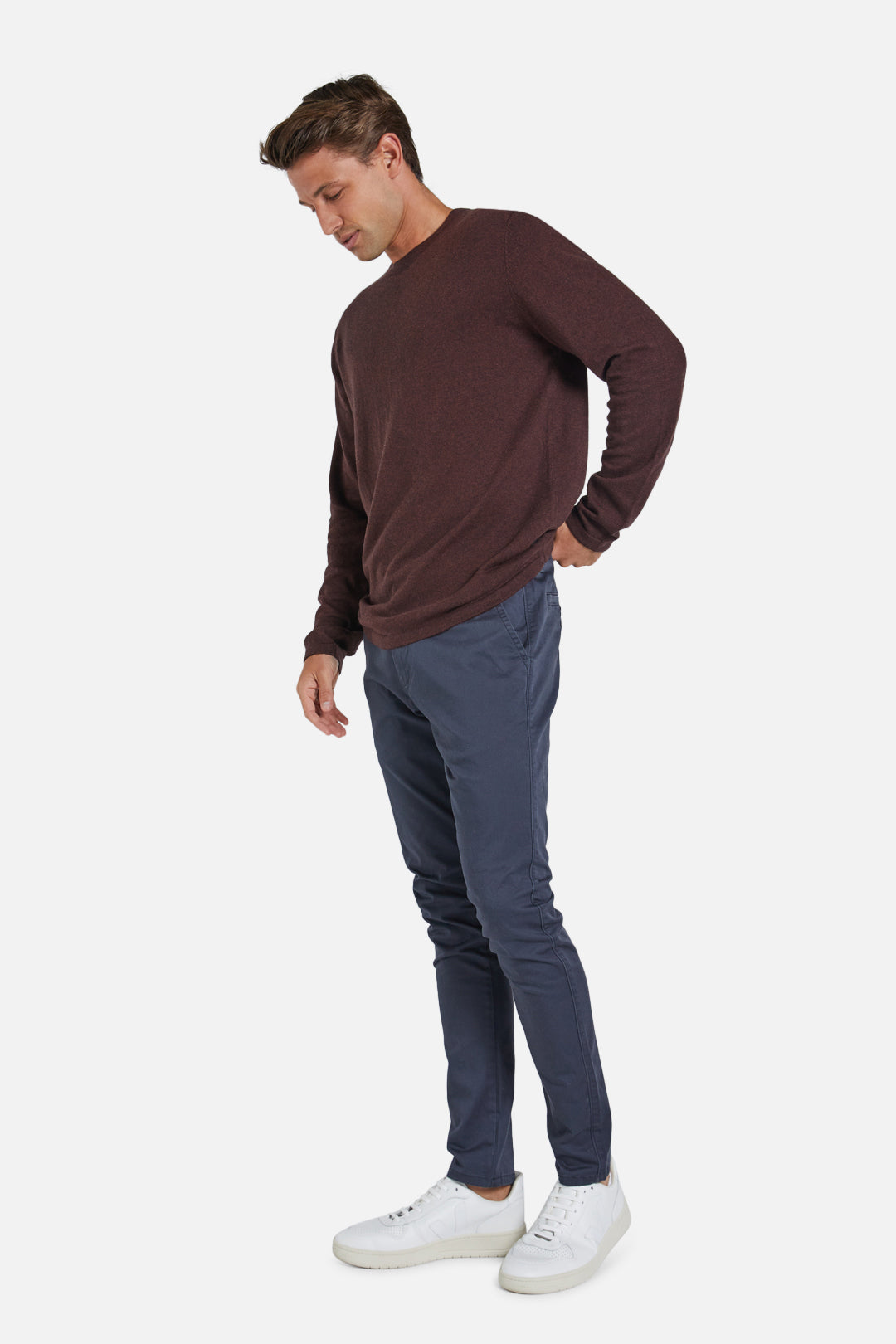 The Cashmere Blend Knit - Ox Blood