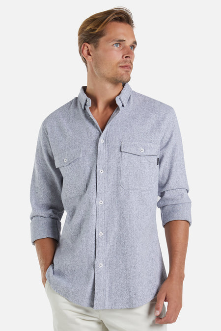 The Ridgeline L/S Shirt - Dark Charcoal