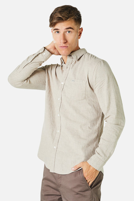 The Arsenio L/S Shirt - Barley 20