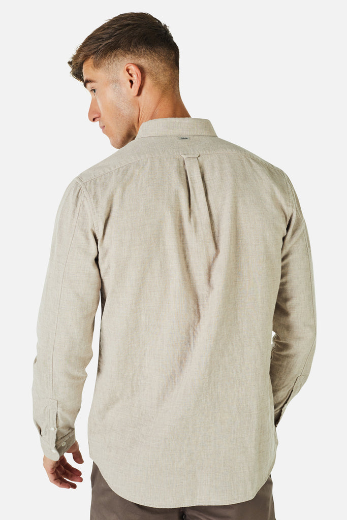 The Arsenio L/S Shirt - Barley