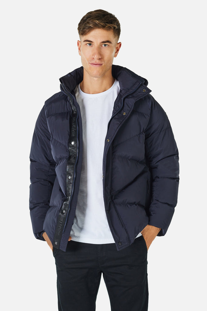 The Meribel Puffer Jacket - Navy