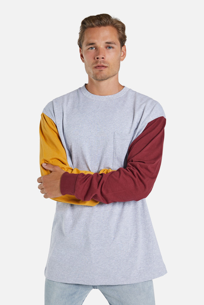 The Rockaway L/S Tee - Grey Combo