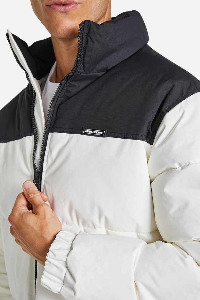The Harlem Puffer Jacket - Offwhtblk
