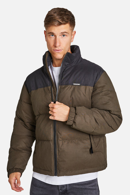 The Lenox Puffer Jacket - Dkforestbl