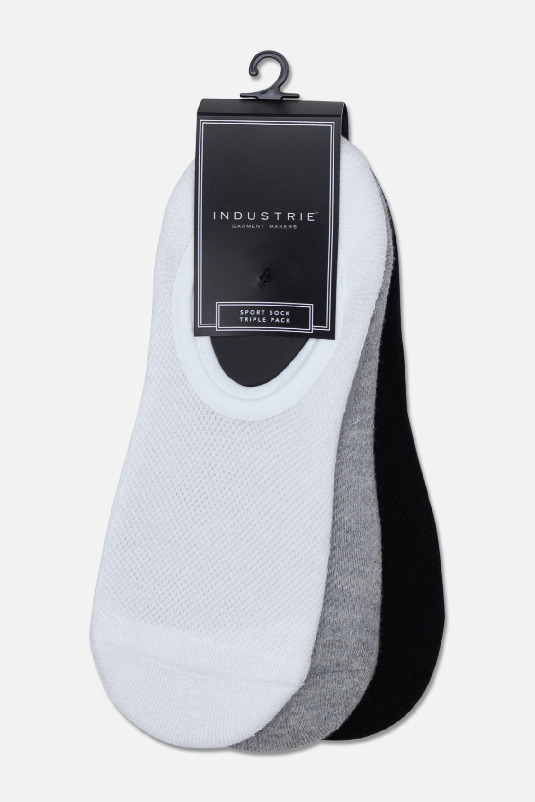 The Rovello Boater Sock Pack - White Grey Black