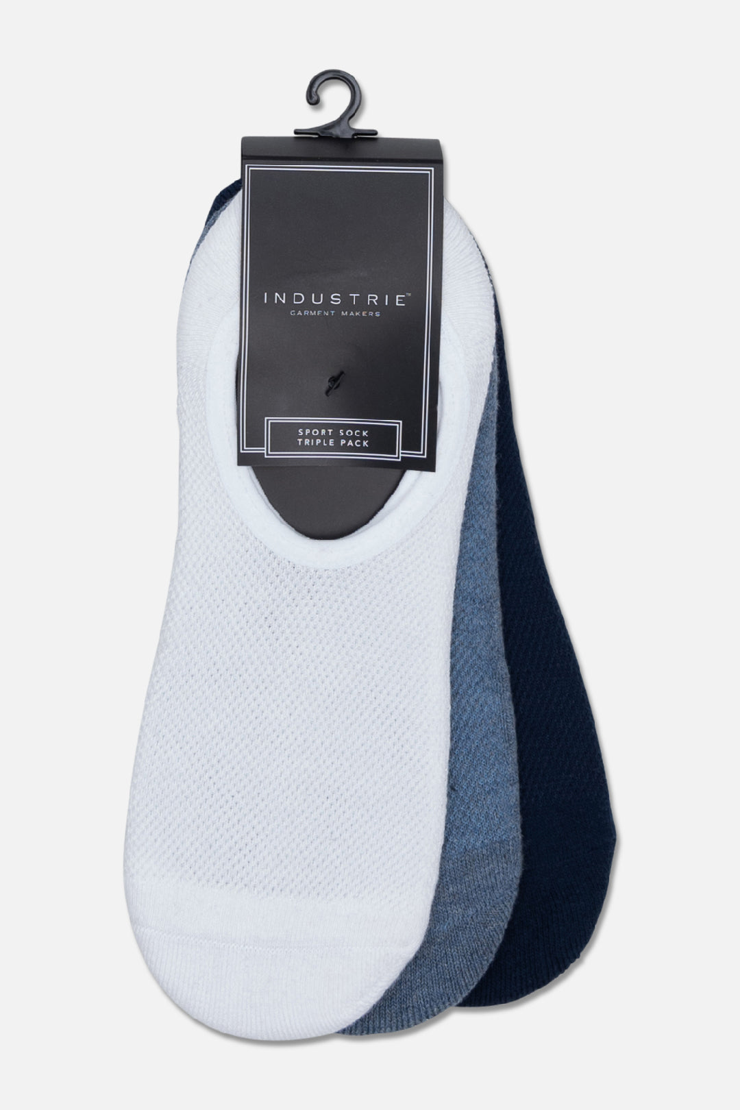 The Rovello Boater Sock Pack - Navy Blue White