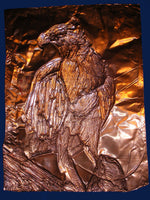 """Embossed Copper Osprey"" Greeting Card"