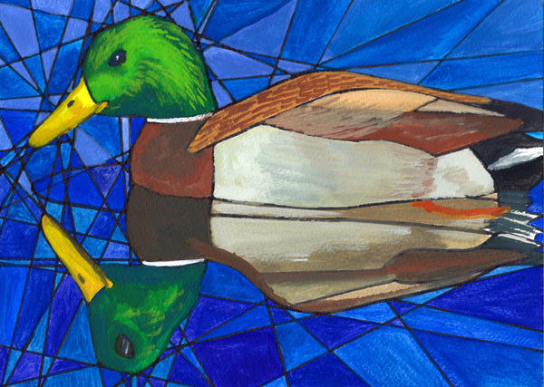 """Duck Reflection"" Greeting Card"