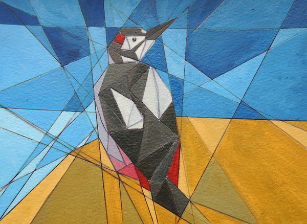 """Woodpecker"" Greeting Card"