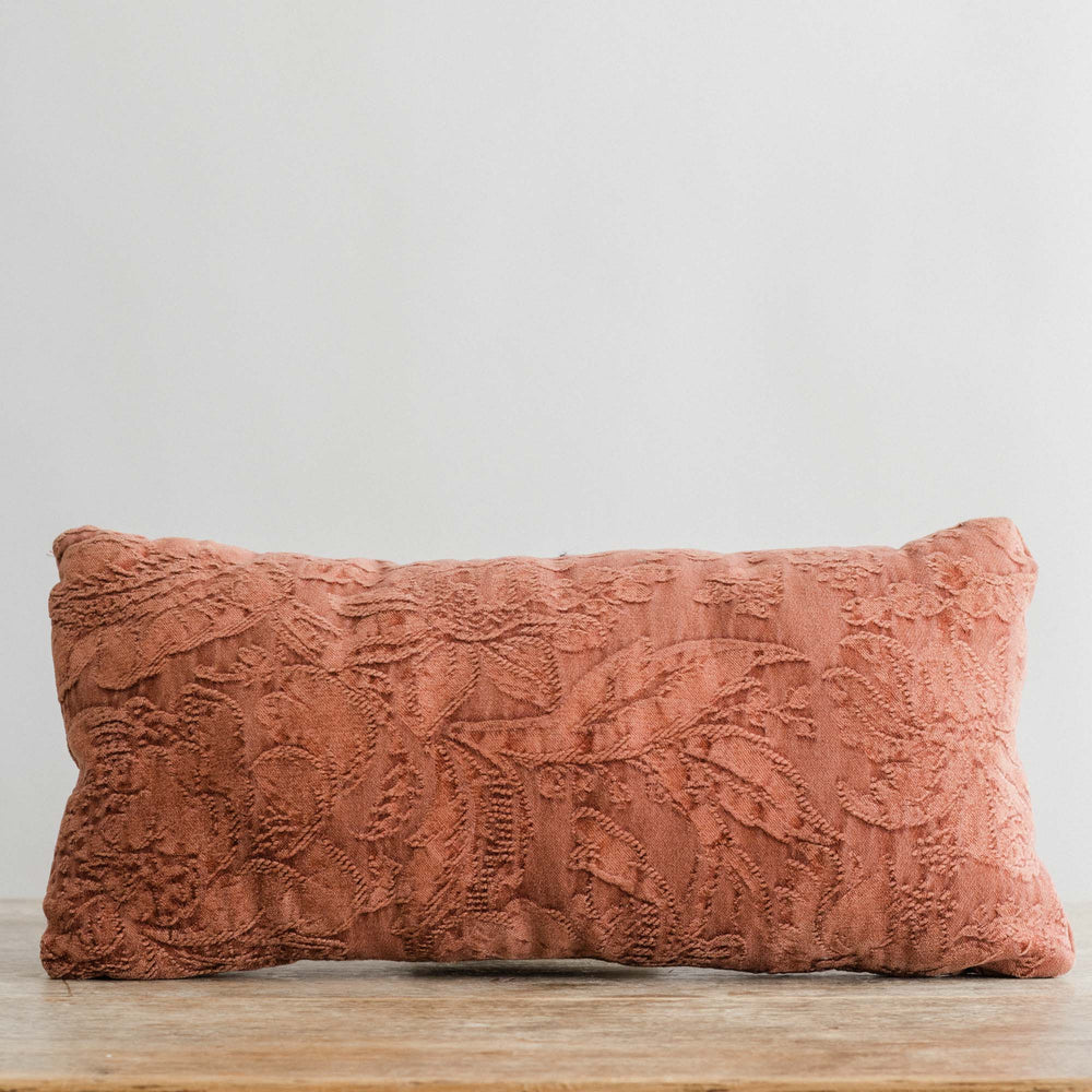 "Load image into Gallery viewer, Handmade Linen Cushion lumbar ""Byron Rosedust"""