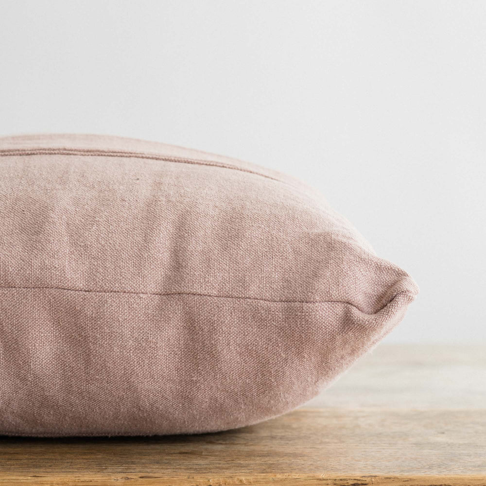 "Load image into Gallery viewer, Handmade Linen Cushion ""Old Mauve"""