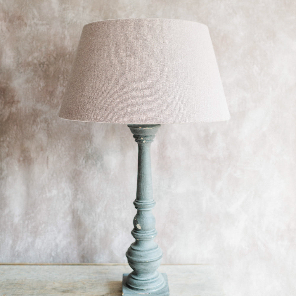 "Handmade Lampshade tapered drum in hemp ""Old Mauve"""