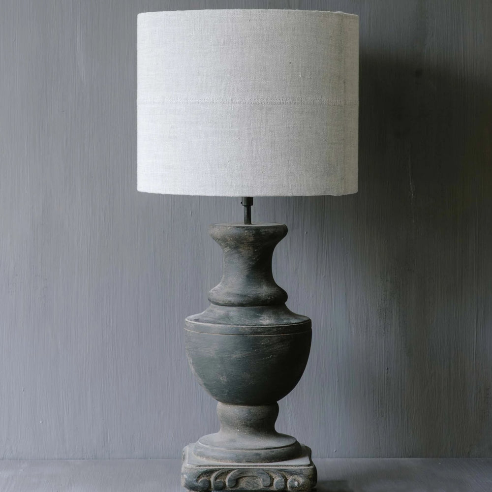 "Handmade Lampshade drum in linen ""Antique Rose"""