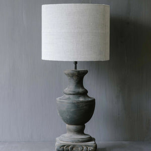"Handmade Lampshade drum in linen ""Soothing 02"""