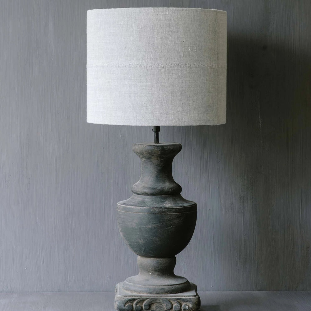 "Handmade Lampshade drum in linen ""Roma 23"""