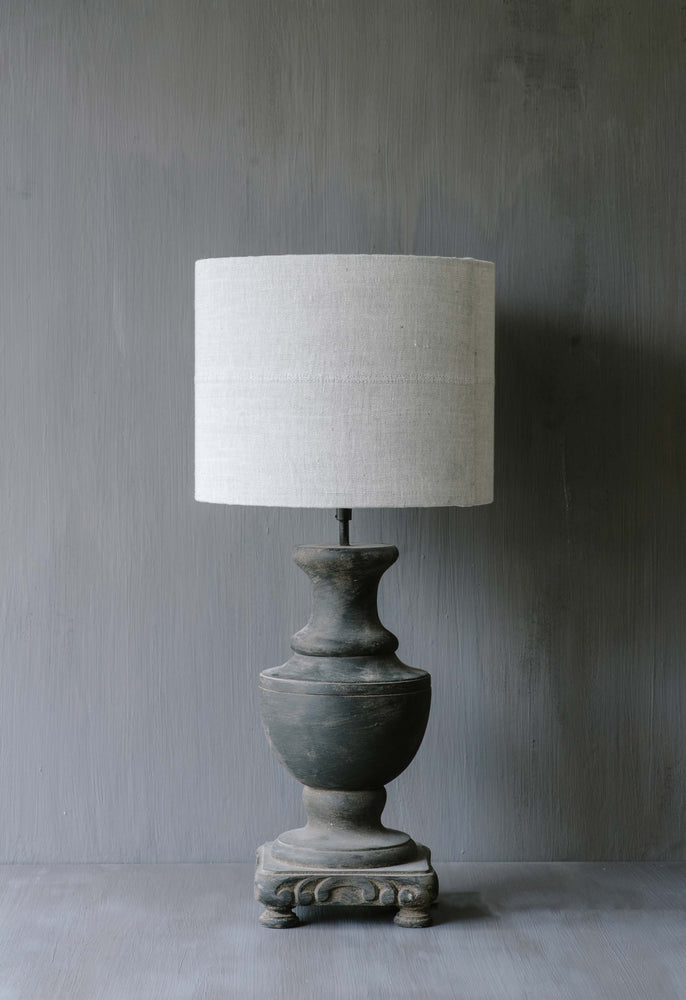 "Handmade Lampshade drum in linen ""Lucca 13"""