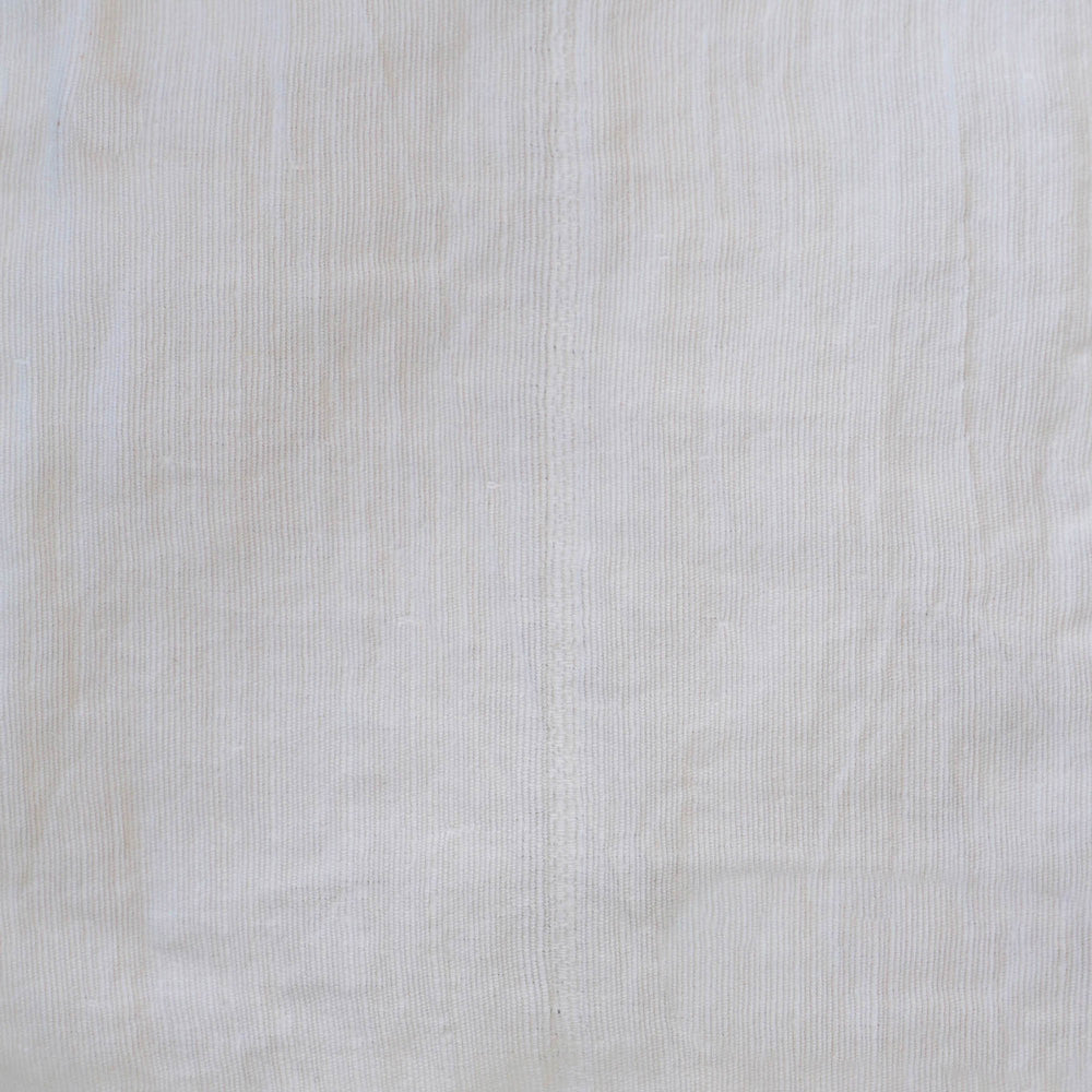 "Handmade linen Curtain with loops and curtain holdback ""Summerbreeze Ivory"""