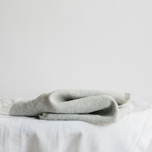 "Load image into Gallery viewer, Handmade linen napkin ""Summerbreeze Soft Grey"""