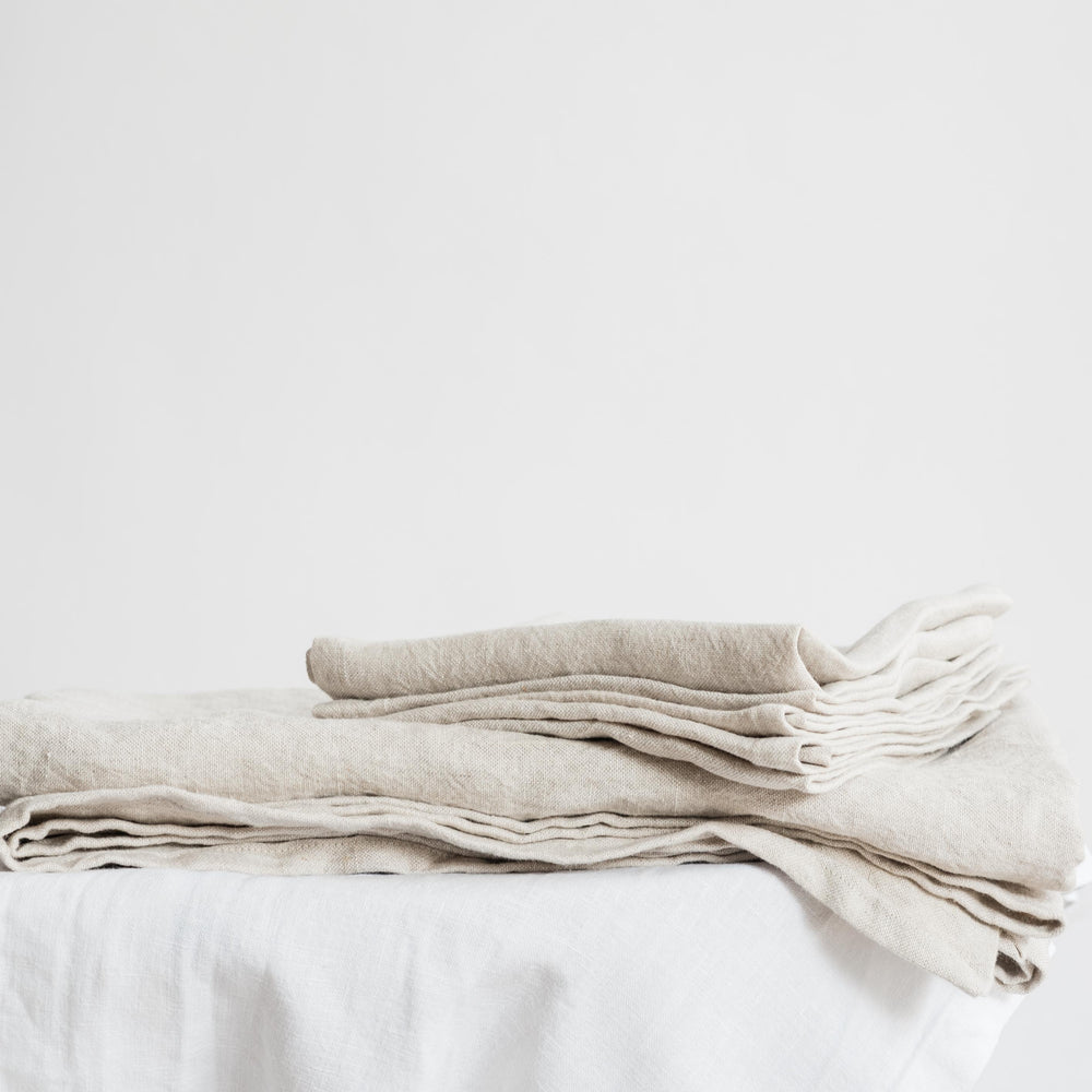 "Handmade linen table runner ""Garda Natural"""