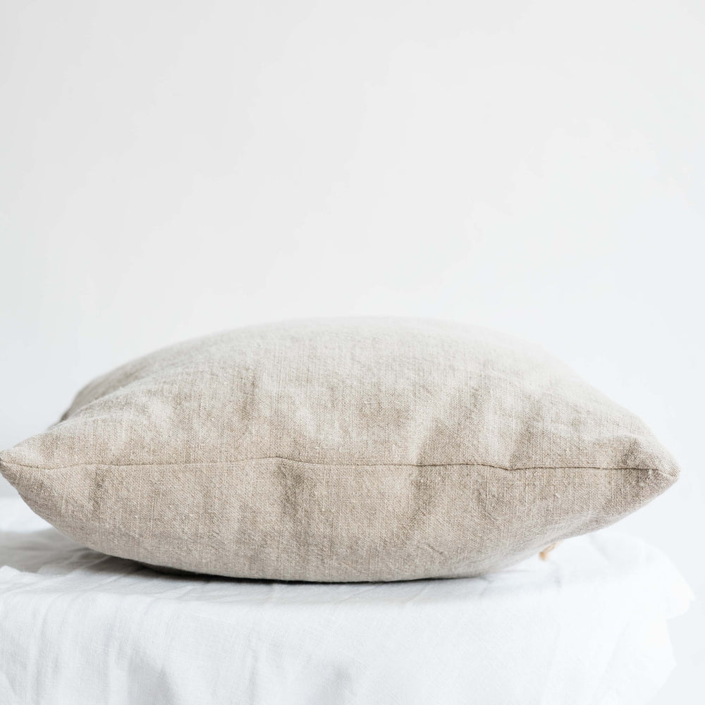 "Handmade Linen Cushion square ""Elba Natural"""