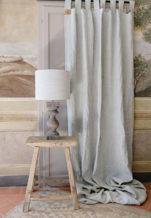 "Handmade linen Curtain with loops and curtain holdback ""Lucca 13"""