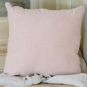 "Handmade Linen Cushion square ""Antique Rose"""