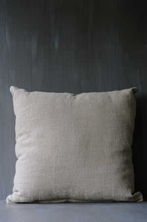 "Handmade Linen Cushion square ""Hemp Old Mauve"""